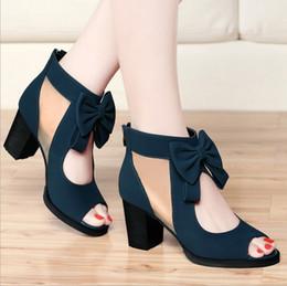 Wholesale 2017 Luxury Elegant Woman Dress Shoes Hot Fashion High Heel New Style Women Shoes Work shoes Blue Black