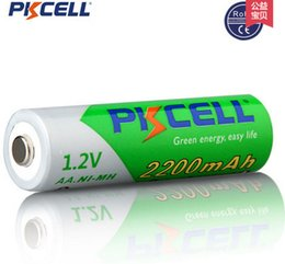 Wholesale battery card PKCELL Low self discharge Durable AA Battery V mAh Ni MH Rechargeable Batteries Volt A Baterias Bateria