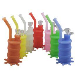 Bonnes bongs à vendre-Les plus chaudes de la vente chaude d'eau de silicone de tubes de bongs en verre de pipe d'eau de tuyau d'eau de bonne qualité et d'expédition libre