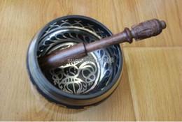 Tibetan Buddhism Six Mantra 9.3cm Singing Bowl Handmade Prayer Bowl