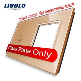 Livolo Luxury Golden Pearl Crystal Glass, 151mm*80mm, EU standard, 1Gang &1 Frame Glass Panel, VL-C7-C1 SR-13