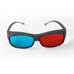 Venta al por mayor-Venta caliente rojo / azul Anaglyph 3D gafas de VR TV con estilo para 3D Movie Game DVD Video desde fabricantes