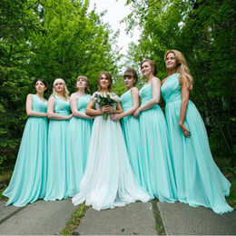 Mint Green Long Chiffon A Line Sweetheart Pleated Bridesmaid Dress 2017 Cheap Bridesmaid Dresses Under 100