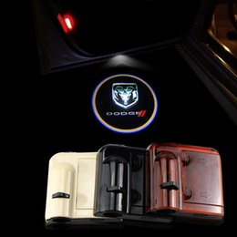 Wholesale 2PCS Wireless Car door Led Welcome laser projector Logo Ghost Shadow Light For DODGE journey durango charger Atos Attitude