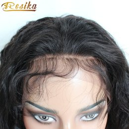 Resika Hot Unprocessed Brazilian Curly Virgin Hair Closure 360 Frontal Human Hair Pre Plucked 22*4*2 Natural Color 8-20 inch