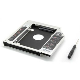 "Compra Online Caja del carrito de disco-Venta al por mayor - 9.5mm SATA 3.0 a la caja de Sata SSD HDD 2do cuaderno 2.5 ""segundo disco duro externo del conductor CD DVD Optical Bay Laptop"