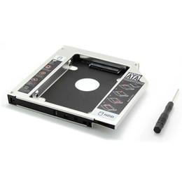 """Una caja portadiscos disco en venta-Venta al por mayor - 9.5mm SATA 3.0 a la caja de Sata SSD HDD 2do cuaderno 2.5 """"segundo disco duro externo del conductor CD DVD Optical Bay Laptop"""