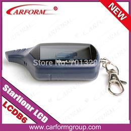 Descuento sistema de alarma a distancia un coche Regulador alejado al por mayor-Libre de Starlionr B6 LCD del envío para el sistema de alarma de dos vías del coche Sistema de alarma del coche de la manera 2 Starlionr B6 LCD alejado