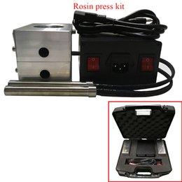 Wholesale 6061 Aluminium in x in Rosin Plates Set with heaters Controller Heavy Duty Rosin Press KIT dual controller cartridge heaters