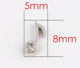 Wholesale 20PCS lot Crystal Music Note DIY Charms Fit For Living Magnetic Floating Locket Jewelry Making