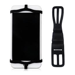Acheter en ligne Volant pour les vélos-Vente en gros-nouvelle conception de bandage de silicium universel support de support de téléphone intelligent montage pour bicyclette vélo moto voiture volant