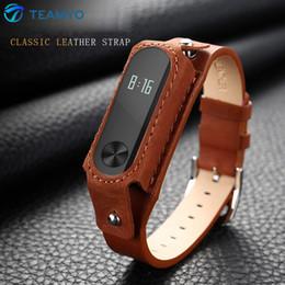 Acheter en ligne Mi bracelet de bande-Xiaomi Mi Band 2 Bracelet Bracelet Bracelet en Cuir Bracelet en Cuir Remplacement Smart Band Accessoires pour Xiaomi M2 sangles
