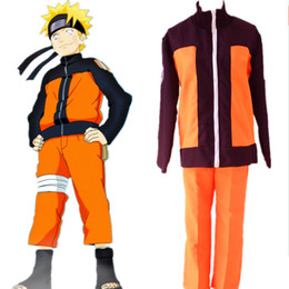 Naruto Uzumaki cosplay costumes Naruto Shippuden clothing Japanese anime Naruto clothing halloween costume Masquerade costume Orange