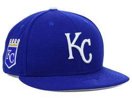 Descuento sombreros de los deportes de la ciudad El nuevo sombrero ajustable del frente del frente del casquillo de béisbol de los rebeldes de Kansas City Royals de la venta al por mayor lejos suda el casquillo adulto del deporte del sudor con los colores de la caja 8 envío libre
