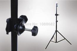 Acheter en ligne Éclairage de la rampe-Metal U Support de serrage de type avec la tête de balle mini pour l'éclairage de caméra Support de lampe de bras de flèche Accessoires de studio de photo