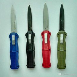 10 models Benchmade knife Infidel Mcherry BM 3300 3310 double action D2 D E blade red green blue black carbon fiber handle 1pcs