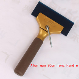 Wholesale Car Vinyl Film Sticker Wrap Tool Tools BLUEMAX Snow Water ICE Gold Color Scraper Shovel Squeegee with Free Gift Inclined strip