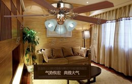 48inch continental ceiling fan ceiling lamp fashion Deluxe antique vintage dining room living room decorating ceiling fan lights