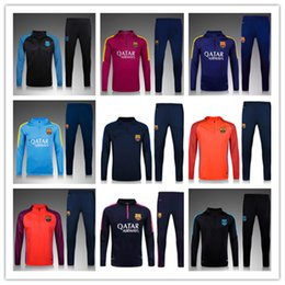Wholesale New Best quality barcelona soccer tracksuit chandal football Tracksuit training suit skinny pants Sportsw