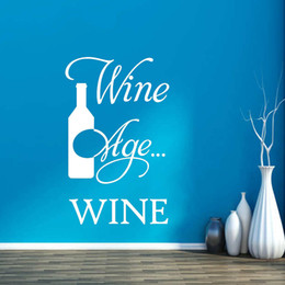 Personality Wine Improve With Age I Improve Bottle Stickers Decals Home Decor Vinyl Art Bedroom Living Room Decor DIY