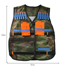 Wholesale 200pcs Nerf Tactical Vest Jacket Waistcoat Magazine Ammo Holder for N Strike Elite Pistol Foam Bullets Toy Guns Clip Nerf Darts Kit