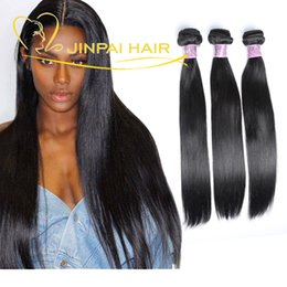 Canada Jinpai Hair Last 3 Years Raw Péruvien Brazilian Virgin Human Hair Bundles 3Pcs Black Straight Remy Weave Extensions de cheveux humains Vente en gros human hair extensions weaves on sale Offre