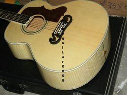 Acoustique de érable flammé en Ligne-Nouveau + Factory + Chibson J200 flamme érable acoustique guitare J200 acoustique acoustique Guitare de luxe épicéa acoustique