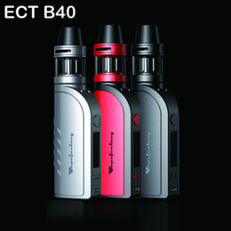 Wholesale Authentique ECT B40 Kits E Kit de démarrage de cigarette W Box Mod mAh Capacité de la batterie ml Kenjoy Met Atomizer