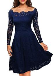 Womens Vintage Dress Kate princess Sheath Bateau Long Full Sleeve Knee Length Lace Sashes Celebrity Retro Hollow dress 5 Colors DK006MF