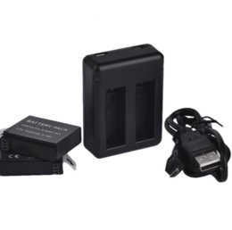 Descuento usb gopro 2pcs Cámara Li-ion Digital Baterías para Gopro Go Pro Hero4 negro AHDBT-401 batería + Dual USB cargador 1160mAh