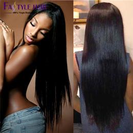 Wholesale Brazilian Hair Weave Bundles Best A Unprocessed Brazillian Peruvian Indian Malaysian Cambodian Straight Human Hair Extensions Natural Black