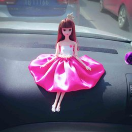 DIY Beaded car decoration Barbie dolls Wedding Doll with Active joint high-end wedding Barbie