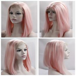 18 pouces perruque synthétique droite en Ligne-Fashion Short Heat Resistant Synthetic Hair Lace Front Perruque Bob Straight 14 pouces perruques pour Black Women