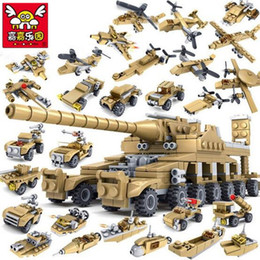 544pcs Brand Compatible Army Series 16 in 1 Super Fire Tank Assembly Transformation Toy Small Particles Building Blocks for Kids