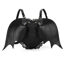Wholesale 2015 Bat Wing Backpack Women Punk Stylish Newest Bags Female Bat Bag Angel Wings Backpacks Cute Little Devil Daypacks