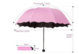 Wholesale Hot selling Compact three Folding Rain Travele light Aluminium mutil colors black coating high quality fashion magic umbrella