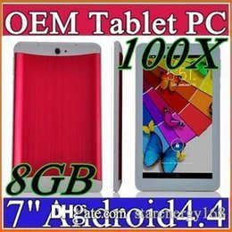 100X DHL 7 inch 3G Phone Call Tablet PC Android 4.4 MTK6572 512MB 8GB Dual Core 1.2GHZ Dual Camera GSM WCDMA GPS Blutooth B-7PB