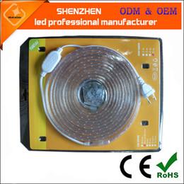 Wholesale 110V v High voltage light led strip V with warm white leds m bendable flexible LED Rope Light LED strip ribbon tape