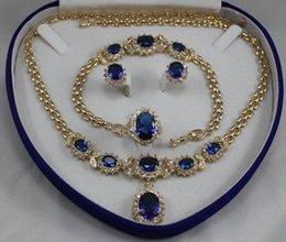 FFREE LIVRAISON ** bijoux des femmes aigue-marine jaune or Boucle d'oreille Bracelet Collier Anneau à partir de bague en or aquamarine fournisseurs