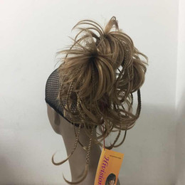2017 New fashion cute bendable wire braid clamp short ponytail Straight hair pieces 4 color select