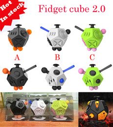 Stock TOP Quality Luxury 12 Sides Fidget Cubes 2.0 relieves anxiety polytope sphere Toys anti stress relief Magic cube ship one day Top