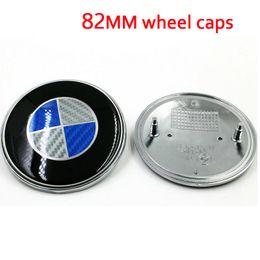 Wholesale New Carbon Fiber Car Front Hood Bonnet Badge mm mm Blue White Black White Color Car Emblem for X3 X5