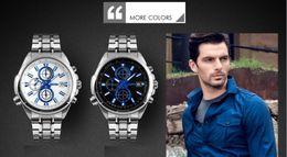 Wholesale Relojes de marca nueva relojes de cuarzo movimiento de alta calidad en blanco o negro relojes de acero inoxidable rea correa de cuero estilo simple Q089