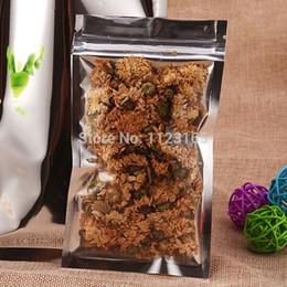 Descuento bolsas de embalaje reutilizables 24X37CM, 100 X Chapado translúcido Aluminio Foil Zip Lock Bolsa-Plata Aluminio metálico y bolsa de plástico resellable frontal transparente