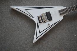 Acheter en ligne Voler v-LTD guitare personnalisée LTD alexi style blanc FLYING V style guitare en stock et la couleur peut choisir Floyd rose ponts
