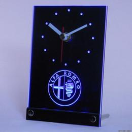 Wholesale tnc0172 Alfa Romeo Car Services Table Desk D LED Clock