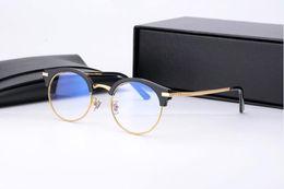 Men s round eyeglass frames en Línea-Brand Glasses-2017 V lentes de ojo de las mujeres eyewear de las lentes azules marco para los hombres