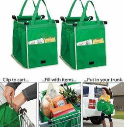 Compra Online Clips de bolsas-Grab Bolsa de compras Ecofriendly bolsas de compras que clips a su carrito de compras Clips de almacenamiento Bolsa plegable sin logotipo KKA1209