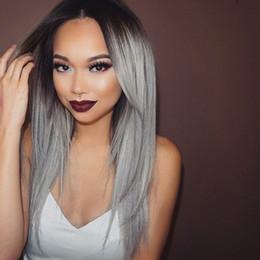 2017 Ombre Color 1B Grey Brazilian Straight Colorful Hair ,Human Hair Bundles Extension 3pcs lot Hot Beauty Ombre Hair