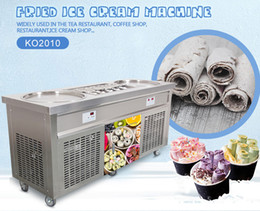 2 pans+10 tanks Roll ice cream machine fried ice cream machine by CE approved